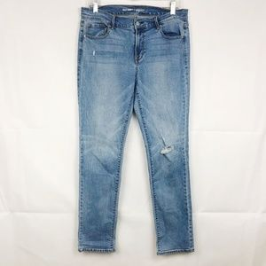3/30 Old Navy   Original Mid Rise Distressed Jeans